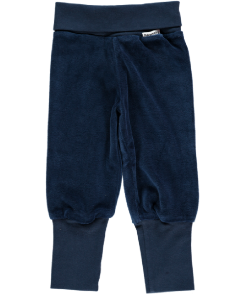 Maxomorra Rib Pants Basic Dark Blue (up to 68cm)